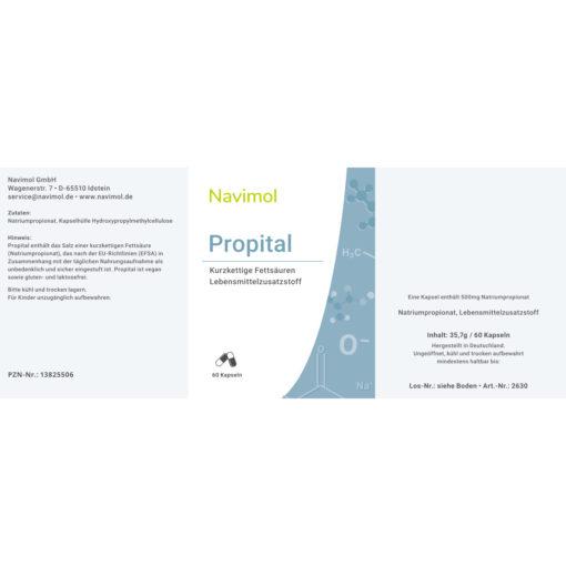 Etikett Navimol Propital Propionsäure kurzkettige Fettsäure