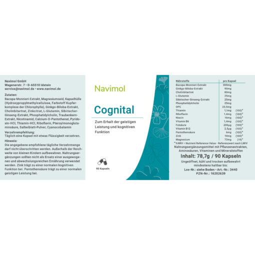 Etikett Navimol Cognital zum Erhalt der geistigen Leistung