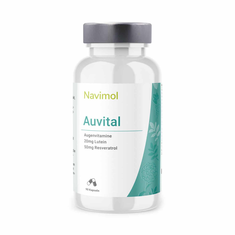 Navimol Auvital Dose mit 20mg Lutein und 50mg Resveratrol
