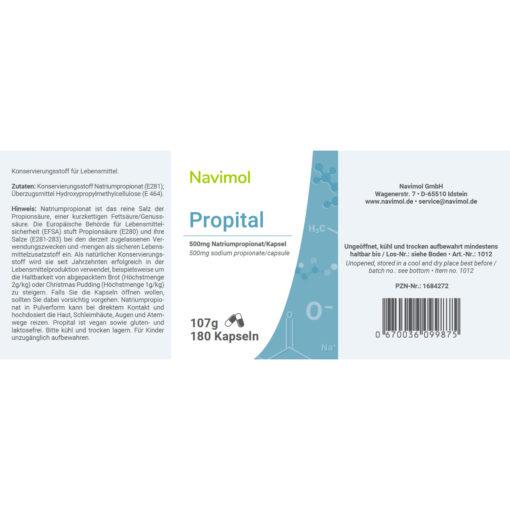 Propital 180 Tabletten Etiketten