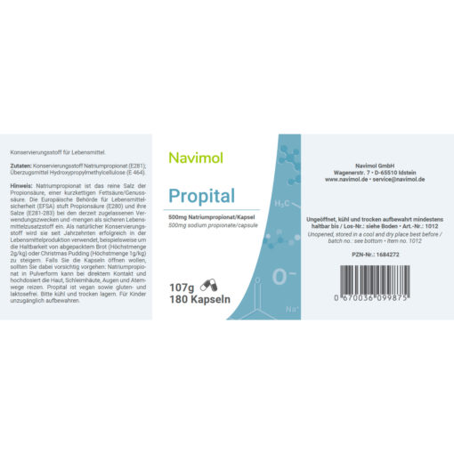 Propital automatische Lieferung Etikett