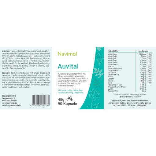 Auvital Etikett