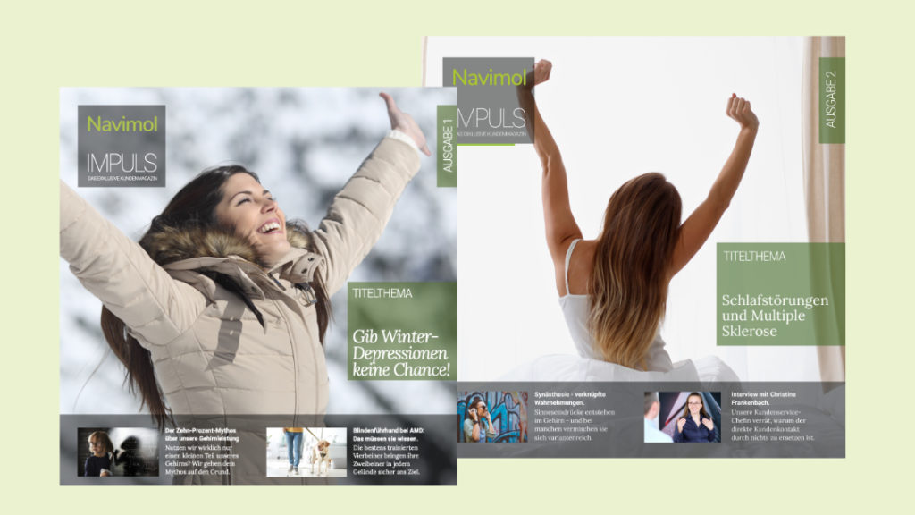 Navimol Impuls ist unser exklusives Kundenmagazin