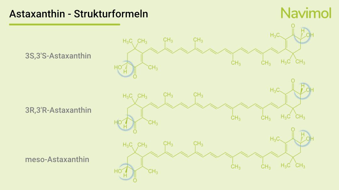 Strukturformel des Astaxanthins.